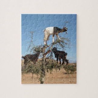 Funny goats in a tree puzzle