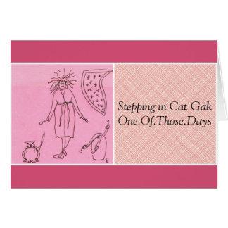 Funny Goddess Cat Gak Greeting Card