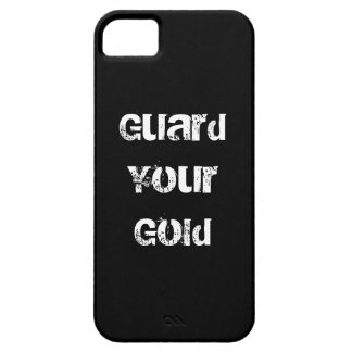 Funny Gold Saying iPhone 5 Cover