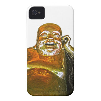 Funny Golden Laughing Buddha iPhone 4 Case
