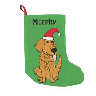 Funny Golden Retriever Christmas Stocking