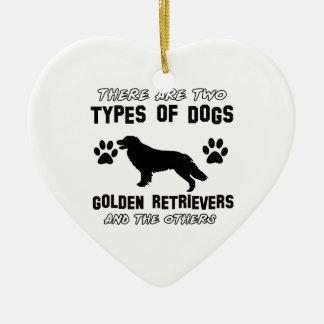 Funny golden retriever designs christmas ornament