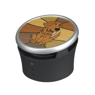 Funny Golden Retriever Dog Bluetooth Speaker