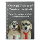 Funny Golden Retriever Math Joke Notebook