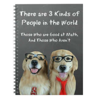 Funny Golden Retriever Math Joke Notebook