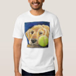Funny Golden Retriever with Tennis Ball Tees
