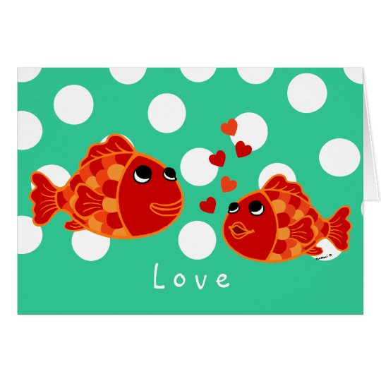 Funny Goldfish Love Cartoon Mother's Day Card