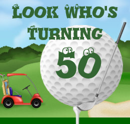 Funny golf birthday invitations announcements zazzle funny golf 50th birthday invitations template filmwisefo Choice Image