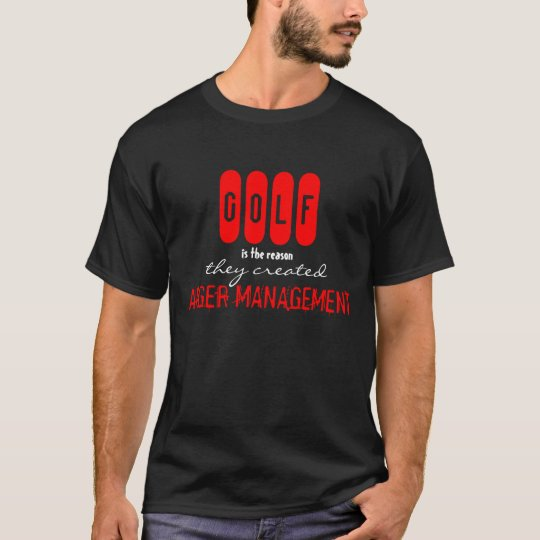 Funny GOLF Anger Management T-Shirt