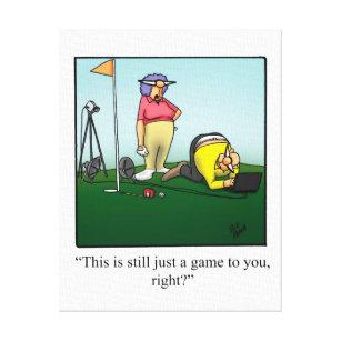 Funny Golf Cartoons Canvas Prints Wall Art Zazzle Co Uk