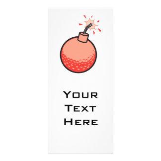 funny golf ball bomb rack card