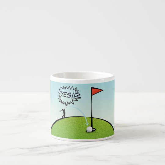 FUNNY GOLF BALL , GOLFER ESPRESSO COFFEE MUG