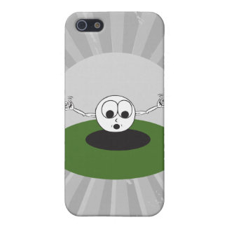 funny golf ball scared going into hole iPhone 5/5S cover