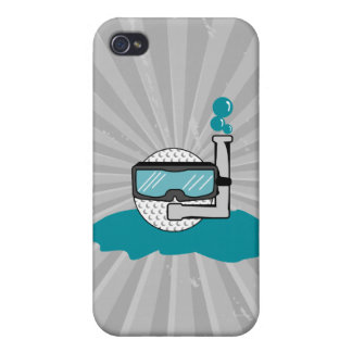 funny golf ball with snorkel case for the iPhone 4