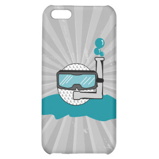 funny golf ball with snorkel iPhone 5C case