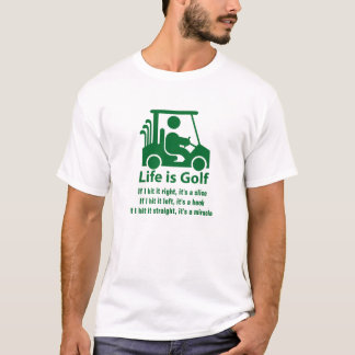 Funny Golf Cart Golfer Green White T-Shirt