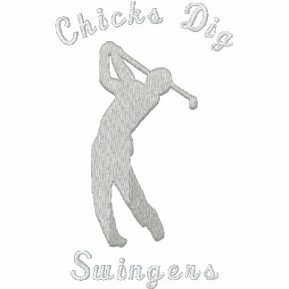 Funny Golf Chicks Dig Swingers Embroidered Polo Shirt