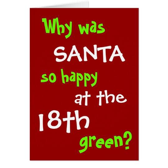 Funny Golf Christmas Card - Santa Hole in