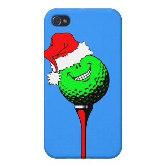 Funny golf Christmas iPhone 4 Cases