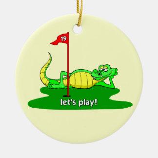 funny golf christmas ornament