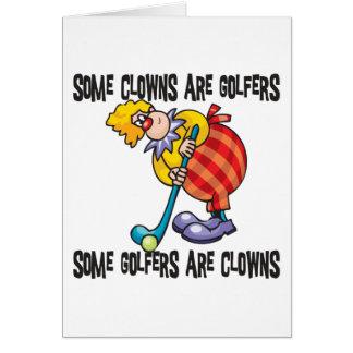 Funny Golf Clown Golfing Cards