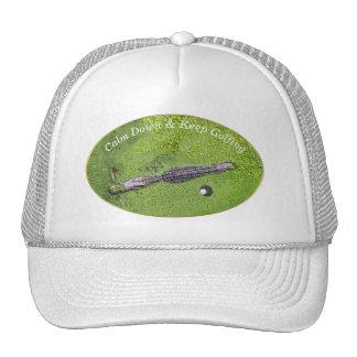 FUNNY GOLF COURSE HAT, KEEP CALM & KEEP GOLFING CAP