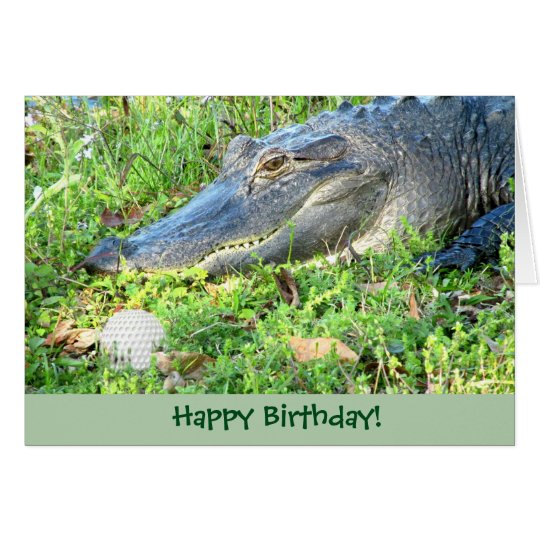 Funny Golf Custom Birthday Greeting Card