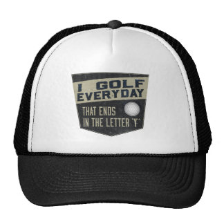 Funny Golf Hat - I Golf Everyday