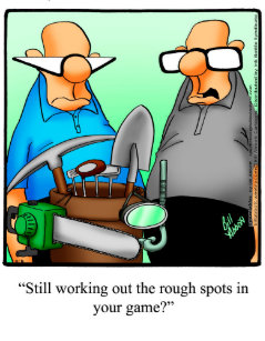Funny Golf Humor Birthday Greeting Card