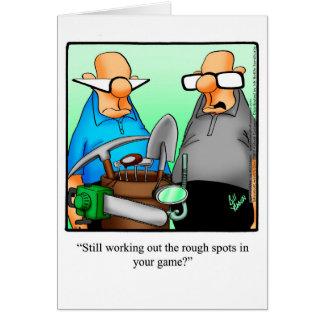 Funny Golf Humor Birthday Greeting Card