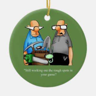 Funny Golf Humor Cartoon Ornament