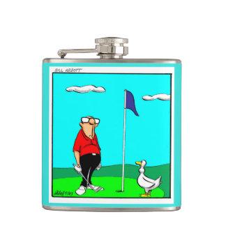 Funny Golf Humor Flask Gift