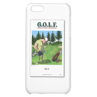 Funny golf image case for iPhone 5C