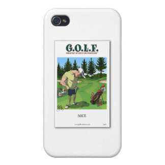 Funny golf image iPhone 4/4S cases