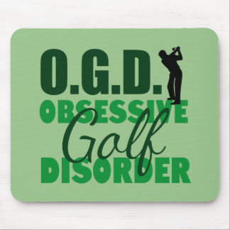 Funny Golf Obsessed Green Mouse Mat