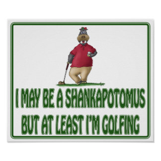 Funny Golf Posters: Shankapotomus Hippo Poster