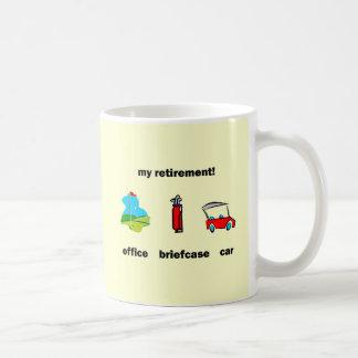 Funny golf retirement basic white mug