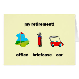 Funny golf retirement greeting card