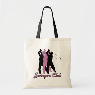 Funny Golf Swingers Club Budget Tote Bag