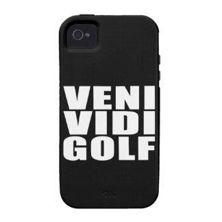 Funny Golfers Quotes Jokes Veni Vidi Golf Case-Mate iPhone 4 Cases