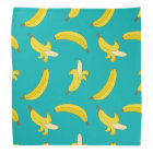 Funny Gone Bananas illustrated pattern Bandana
