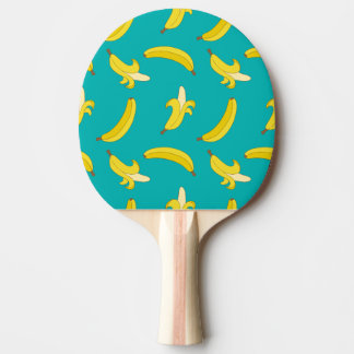Funny Gone Bananas illustrated pattern Ping Pong Paddle