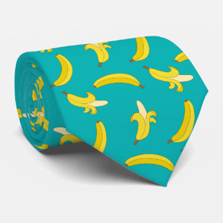 Funny Gone Bananas illustrated pattern Tie