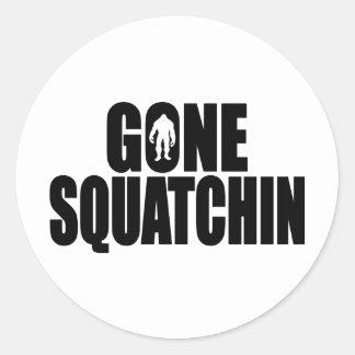 Funny GONE SQUATCHIN Design Special *BOBO* Edition Round Sticker