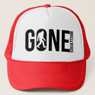 Funny Gone Squatchin Trucker Hat
