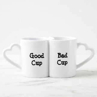 Funny Good Cup Bad Cup Good Cop Bad Cop Couples' Coffee Mug Set