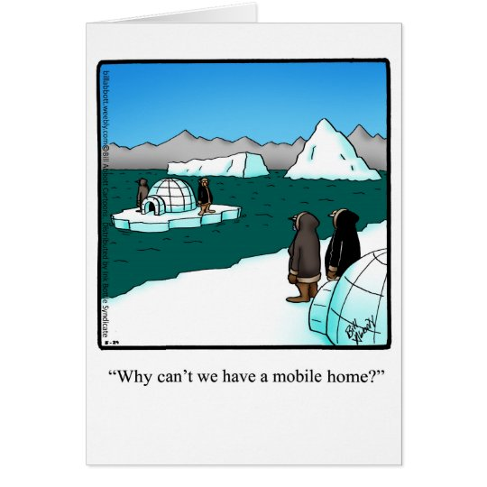 """Funny Good Trip """"Mobile Home"""" Humour Greeting Card"""