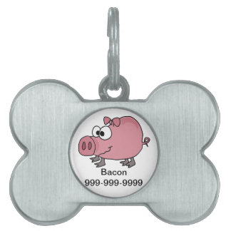 Funny Goofy Pig Cartoon Pet Tag
