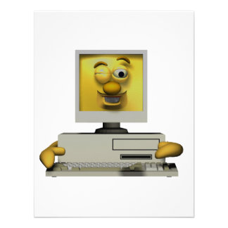funny goofy winking computer personalized announcement