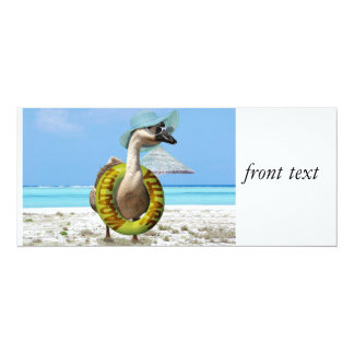 Funny Goose at the Beach Card